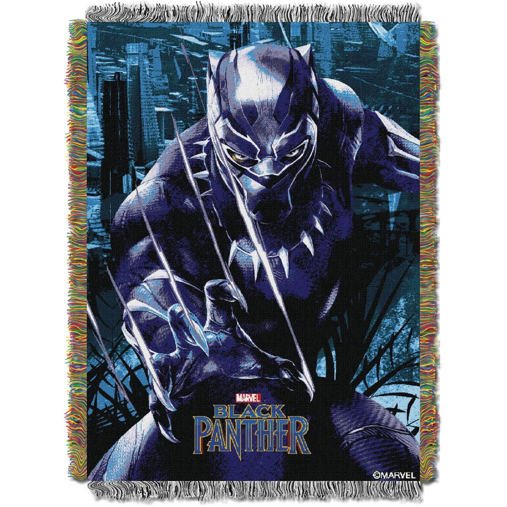 """Black Panther - Ripper  Licensed 48""""x 60"""" Woven Tapestry Throw  by The Northwest Company"""