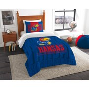 "Kansas OFFICIAL Collegiate ""Modern Take"" Twin Comforter & Sham Set"