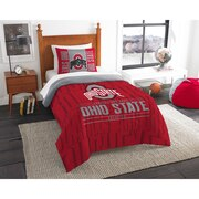 "Ohio State OFFICIAL Collegiate ""Modern Take"" Twin Comforter & Sham Set"