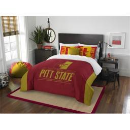"Pittsburgh State OFFICIAL Collegiate ""Modern Take"" Full/Queen Comforter & Sham Set"