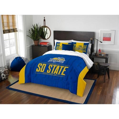 """South Dakota State OFFICIAL Collegiate """"Modern Take"""" Full/Queen Comforter & Sham Set"""