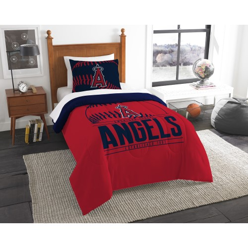 "Angels OFFICIAL Major League Baseball, Bedding, Printed Twin Comforter (64""x 86"") & 1 Sham (24""x 30"") Set  by The Northwest Comp"