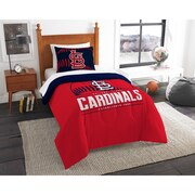 "Cardinals OFFICIAL Major League Baseball, Bedding, Printed Twin Comforter (64""x 86"") & 1 Sham (24""x 30"") Set  by The Northwest C"