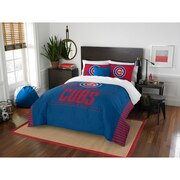 "Cubs OFFICIAL Major League Baseball, Bedding, ""Grand Slam"" Full/Queen Printed Comforter (86""x 86"") & 2 Shams (24""x 30"") Set  by"