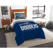 "Dodgers OFFICIAL Major League Baseball, Bedding, Printed Twin Comforter (64""x 86"") & 1 Sham (24""x 30"") Set  by The Northwest Com"