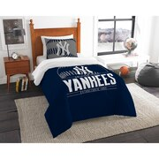 "Yankees OFFICIAL Major League Baseball, Bedding, Printed Twin Comforter (64""x 86"") & 1 Sham (24""x 30"") Set  by The Northwest Com"