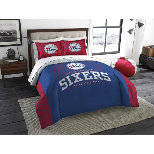"76ers OFFICIAL National Basketball Association, Bedding, ""Reverse Slam"" Full/Queen Printed Comforter (86""x 86"") & 2 Shams (24""x"