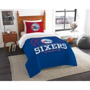"76ers OFFICIAL National Basketball Association, Bedding, ""Reverse Slam"" Printed Twin Comforter (64""x 86"") & 1 Sham (24""x 30"") Se"