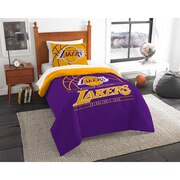 """Lakers OFFICIAL National Basketball Association, Bedding, """"Reverse Slam"""" Printed Twin Comforter (64""""x 86"""") & 1 Sham (24""""x 30"""") S"""