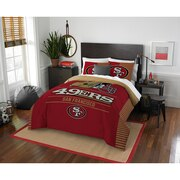 "49ers OFFICIAL National Football League, Bedding, ""Draft"" Full/Queen Printed Comforter (86""x 86"") & 2 Shams (24""x 30"") Set  by T"
