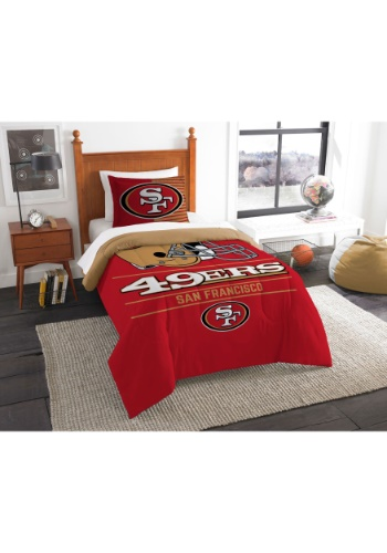 """49ers OFFICIAL National Football League, Bedding, """"Draft"""" Printed Twin Comforter (64""""x 86"""") & 1 Sham (24""""x 30"""") Set  by The Nort"""