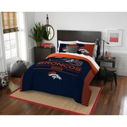 "Broncos OFFICIAL National Football League, Bedding, ""Draft"" Full/Queen Printed Comforter (86""x 86"") & 2 Shams (24""x 30"") Set  by"