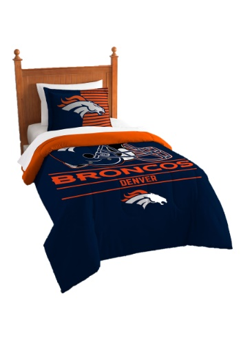 "Broncos OFFICIAL National Football League, Bedding, ""Draft"" Printed Twin Comforter (64""x 86"") & 1 Sham (24""x 30"") Set  by The No"