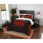 """Browns OFFICIAL National Football League, Bedding, """"Draft"""" Full/Queen Printed Comforter (86""""x 86"""") & 2 Shams (24""""x 30"""") Set  by"""