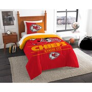 """Chiefs OFFICIAL National Football League, Bedding, """"Draft"""" Printed Twin Comforter (64""""x 86"""") & 1 Sham (24""""x 30"""") Set  by The Nor"""