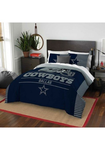 "Cowboys OFFICIAL National Football League, Bedding, ""Draft"" Full/Queen Printed Comforter (86""x 86"") & 2 Shams (24""x 30"") Set  by"