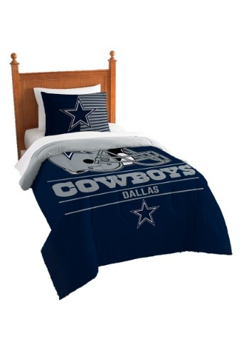 "Cowboys OFFICIAL National Football League, Bedding, ""Draft"" Printed Twin Comforter (64""x 86"") & 1 Sham (24""x 30"") Set  by The No"