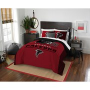 "Falcons OFFICIAL National Football League, Bedding, ""Draft"" Full/Queen Printed Comforter (86""x 86"") & 2 Shams (24""x 30"") Set  by"