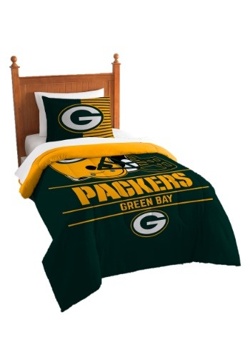 "Packers OFFICIAL National Football League, Bedding, ""Draft"" Printed Twin Comforter (64""x 86"") & 1 Sham (24""x 30"") Set  by The No"