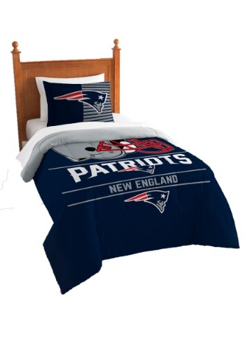 "Patriots OFFICIAL National Football League, Bedding, ""Draft"" Printed Twin Comforter (64""x 86"") & 1 Sham (24""x 30"") Set  by The N"