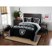 "Raiders OFFICIAL National Football League, Bedding, ""Draft"" Full/Queen Printed Comforter (86""x 86"") & 2 Shams (24""x 30"") Set  by"