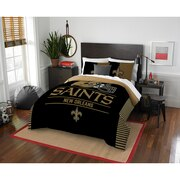 "Saints OFFICIAL National Football League, Bedding, ""Draft"" Full/Queen Printed Comforter (86""x 86"") & 2 Shams (24""x 30"") Set  by"