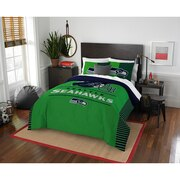 "Seahawks OFFICIAL National Football League, Bedding, ""Draft"" Full/Queen Printed Comforter (86""x 86"") & 2 Shams (24""x 30"") Set  b"