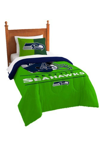 "Seahawks OFFICIAL National Football League, Bedding, ""Draft"" Printed Twin Comforter (64""x 86"") & 1 Sham (24""x 30"") Set  by The N"