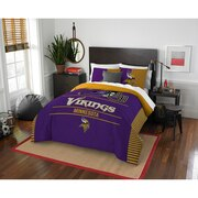 "Vikings OFFICIAL National Football League, Bedding, ""Draft"" Full/Queen Printed Comforter (86""x 86"") & 2 Shams (24""x 30"") Set  by"