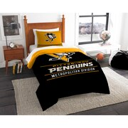 "Penguins OFFICIAL National Hockey League, Bedding, ""Draft"" Twin Printed Comforter (64""x 86"") & 1 Sham (24""x 30"") Set  by The Nor"