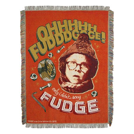 """A Christmas Stoy -  OH Fudge Licensed Holiday 48""""x 60"""" Woven Tapestry Throw  by The Northwest Company"""