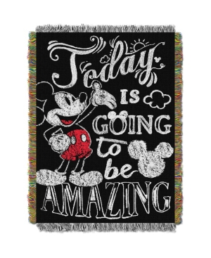 """Classic Mickey - Amazing Day Licensed 48""""x 60"""" Woven Tapestry Throw  by The Northwest Company"""
