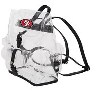 "49ers OFFICIAL  ""Lucia"" Clear Backpack, 12"" x 4.5"" x 9.75"""