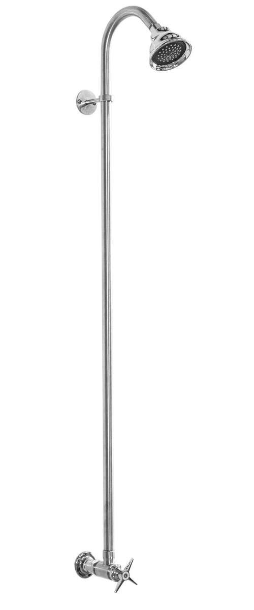 "42"" Wall Mount Economy Stainless Steel Pool Shower with Cross Handle"