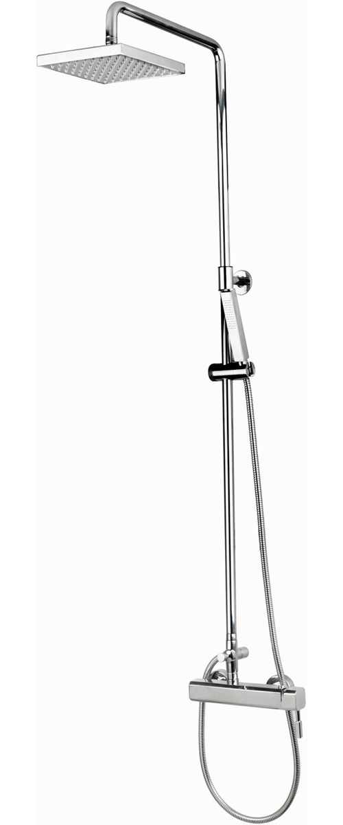 CAP-118BAS-8 Wall Mount Hot & Cold Shower with 8� Square Shower Head