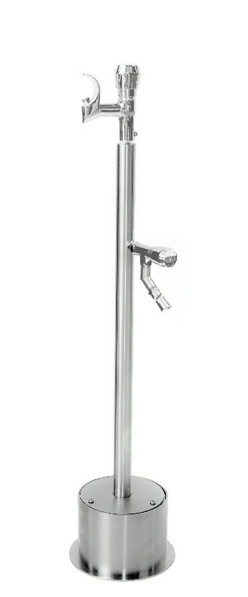 FSFSDF-054-ADA Free Standing ADA Metered Drinking Fountain with Foot Shower