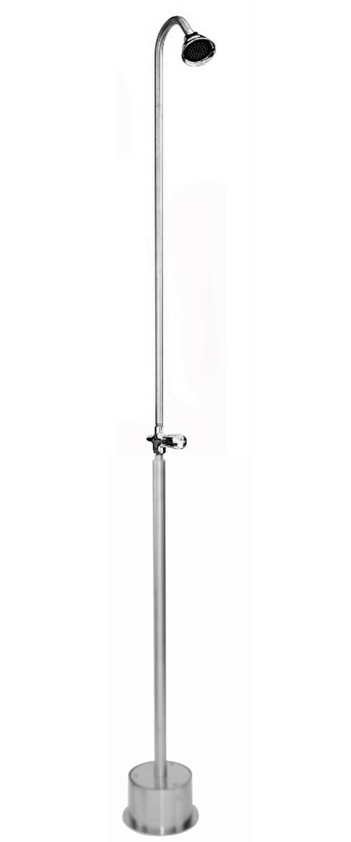 ADA Compliant Free Standing Single Supply Shower with 3� Shower Head