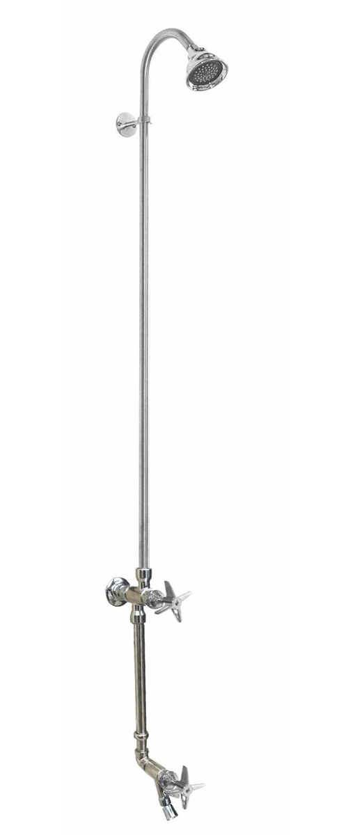 WM-442-CHV-FS Wall Mount Single Supply Shower with Foot Shower