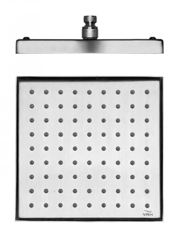 CAP-118ZAS-8 Stainless Steel Square Shower Head, Satin