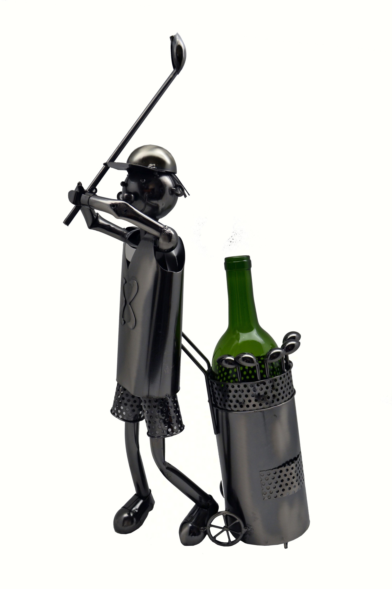 20 inch Golfer Wine Bottle Holder