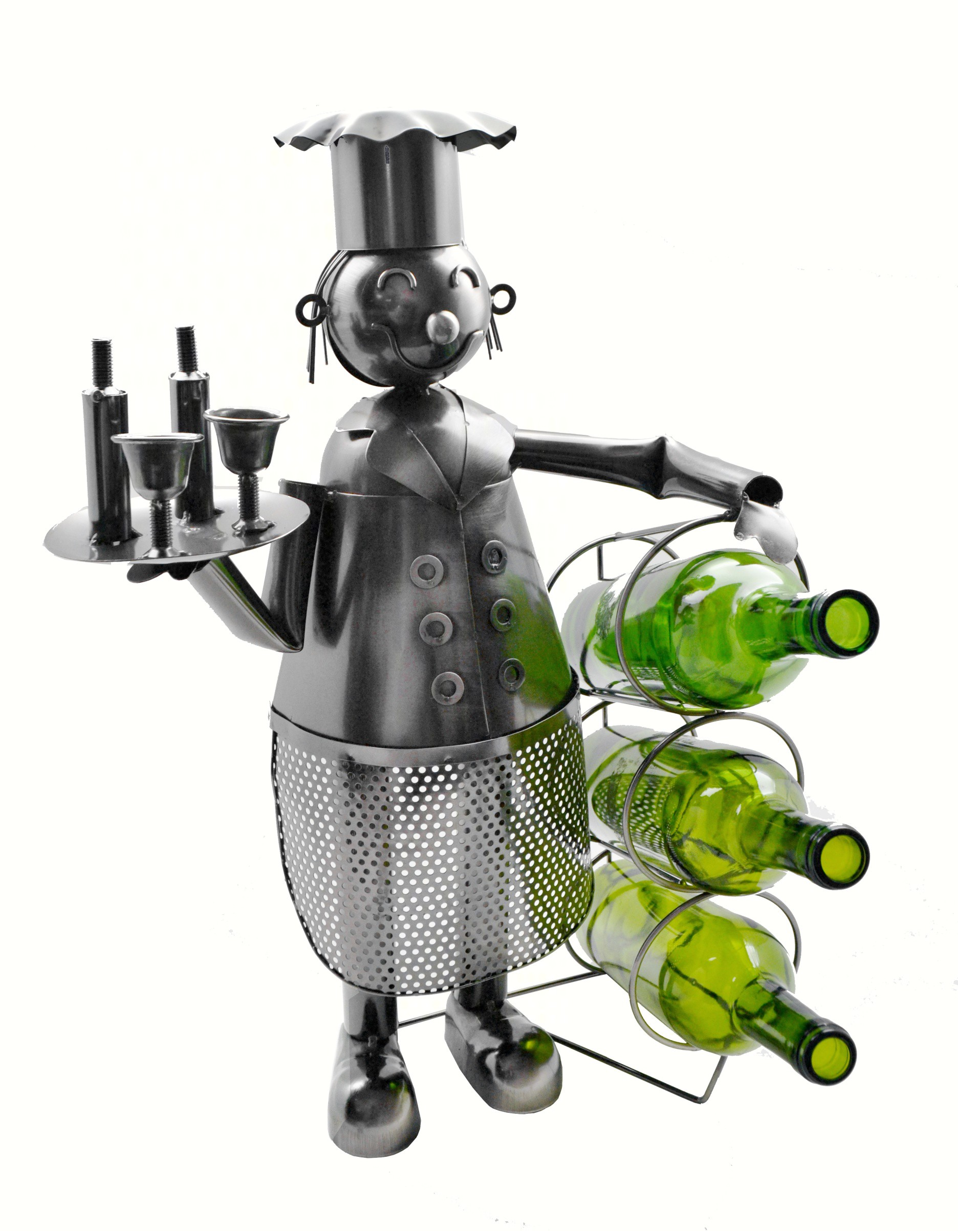 21 inch Big Chef Wine Bottle Holder