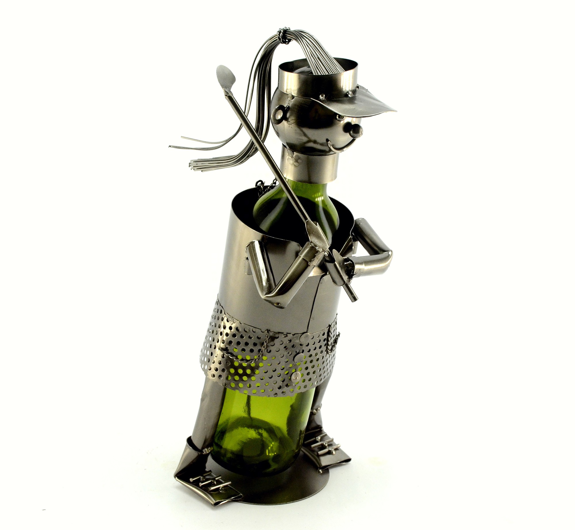 Lady Golfer Wine Bottle Holder