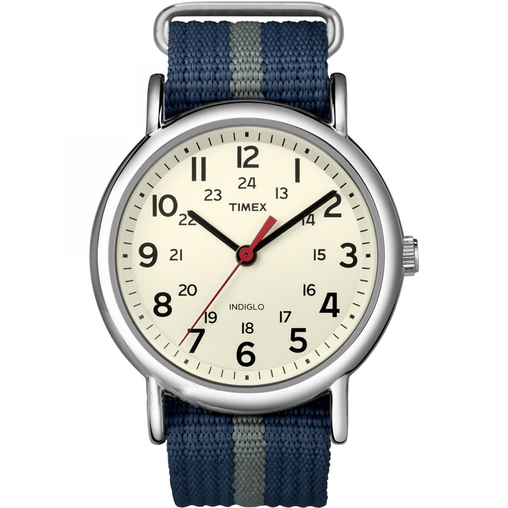 Timex Weekender® Slip-Thru Watch - Navy/Grey