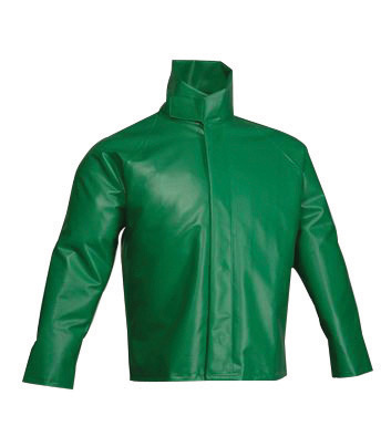 Tingley Large 31� Green SafetyFlex� 17 mil PVC And Polyester Rain Jacket With Snap And Storm Flap Closure