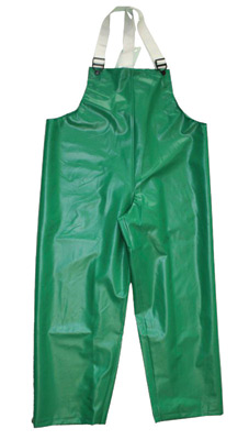 Tingley Large Green Safetyflex� 17 mil PVC And Polyester Rain Bib Overalls With Hook And Loop Closure