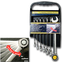 """7 PIECE SAE RATCHET COMBO WRENCH SET 5/16""""-3/4"""""""