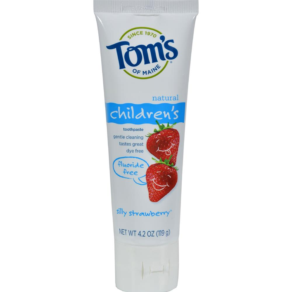 Tom's of Maine - Silly Strawberry Children's Natural Toothpaste Fluoride-Free ( 6 - 4.2 OZ)