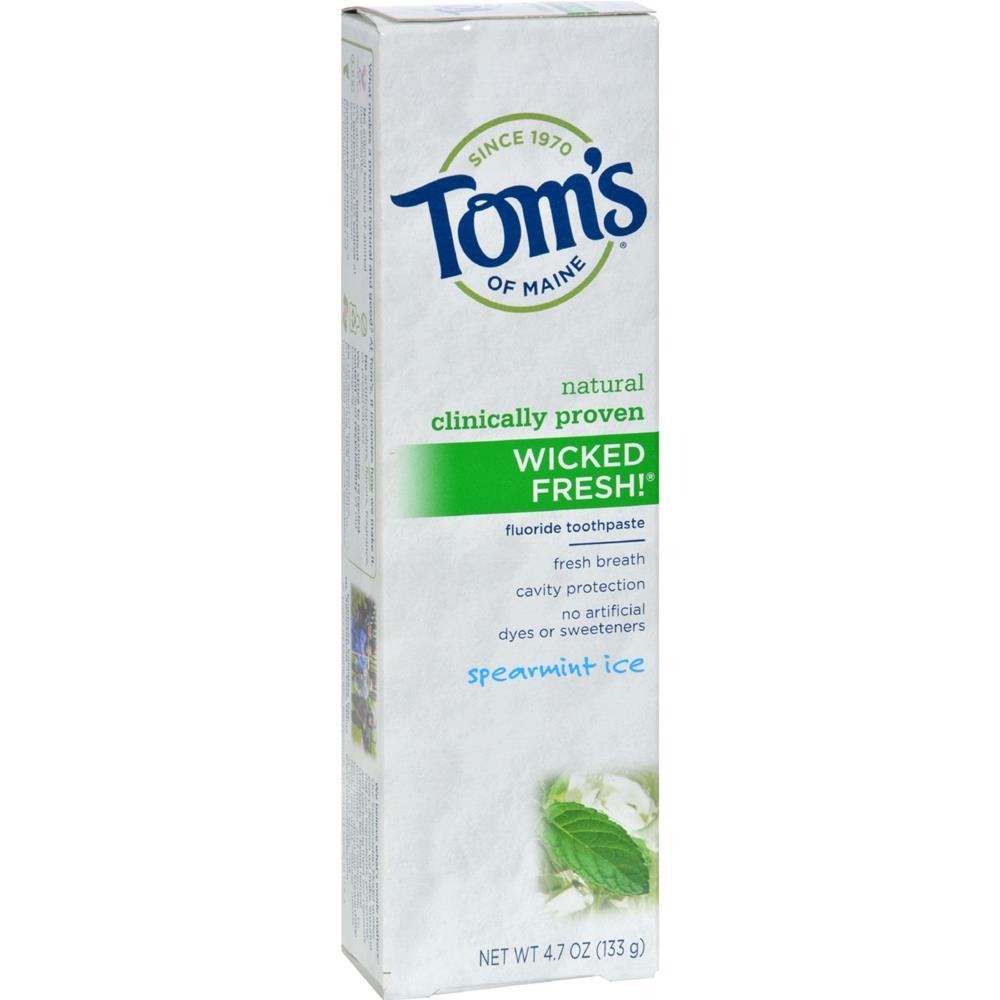 Tom's of Maine - Wicked Fresh! Toothpaste - Spearmint Ice ( 6 - 4.7 OZ)