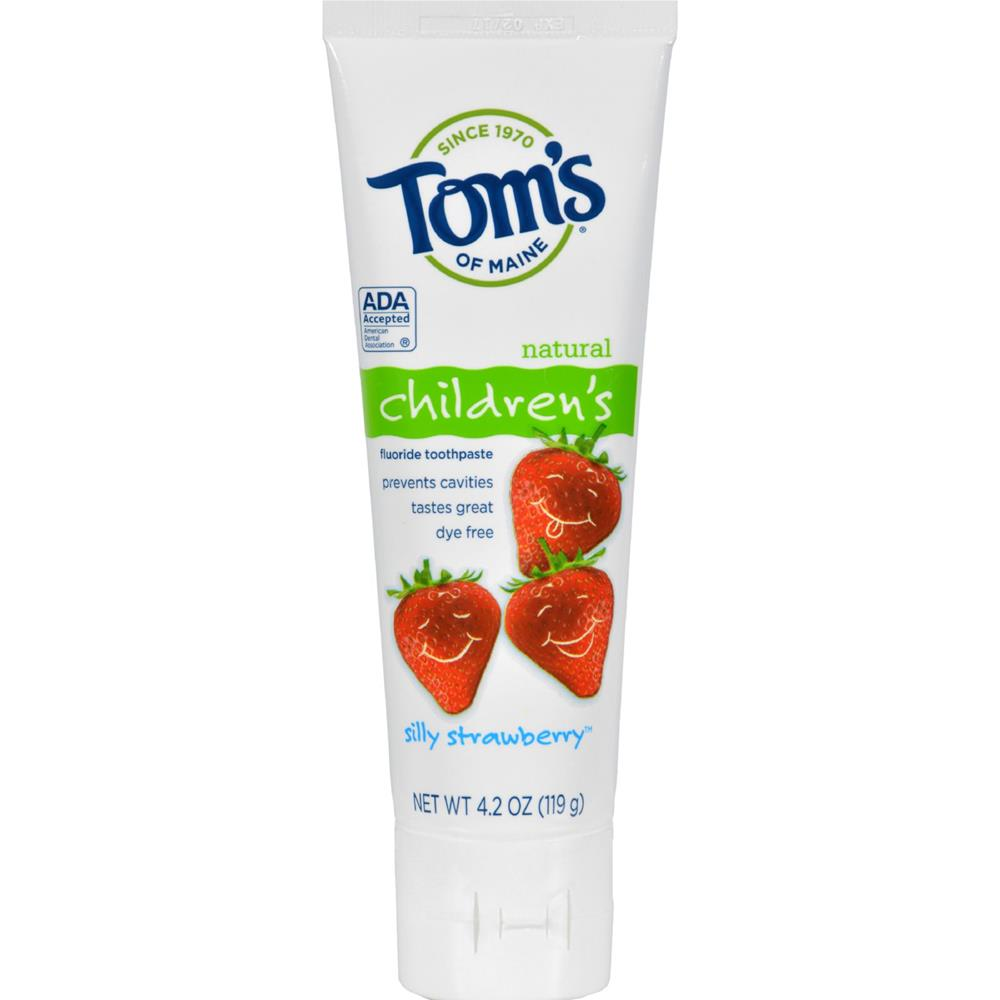 Tom's of Maine - Silly Strawberry Children's Natural Fluoride Toothpaste ( 6 - 4.2 OZ)