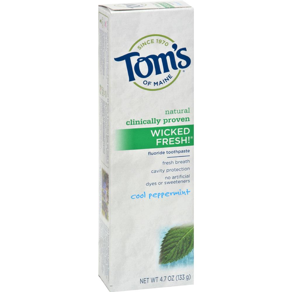 Tom's of Maine - Wicked Fresh! Toothpaste - Peppermint ( 6 - 4.7 OZ)